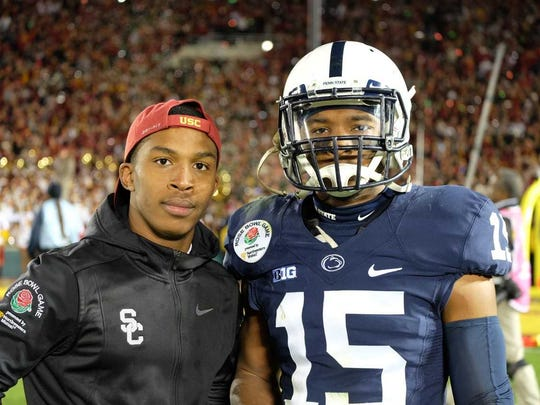 "Penn State cornerback Grant Haley met younger brother, Wesley, a USC football manager, on the field after the Rose Bowl. ""There's a look that Grant gets in his eyes when he's both disappointed and determined,"" said mother Carla Haley. ""At the end of the Rose Bowl there was that look like, 'I'll be damned if I'm going to let this be how my football career ends.'"""