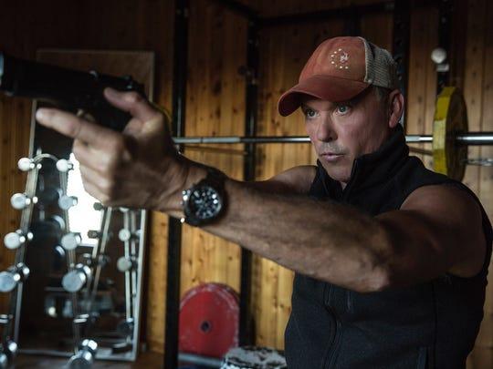 "Michael Keaton appears in a scene from, ""American Assassin."""