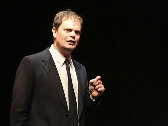 "The Rainn in ""Pain"" falls mainly on the, um, stage? Here's Rainn Wilson in ""Thom Pain."""