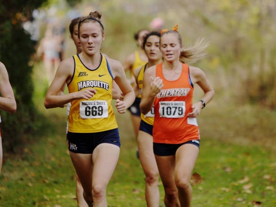 Emily Foley is a freshman for the Marquette University cross country team and joined fellow former Lourdes Academy alums Maeve McDonald and Nora Keller on the squad.