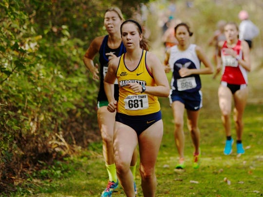 Maeve McDonald is a senior for the Marquette University cross country team and joined fellow former Lourdes Academy alums Emily Foley and Nora Keller on the squad.