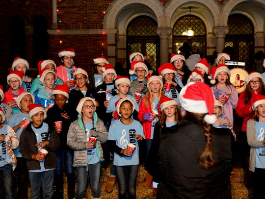 Fourth- and fifth- graders from Ben Franklin Elementary