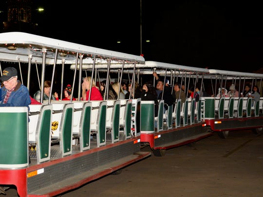 Polar Express tour runs from 6 to 10 p.m. each day up through Christmas night on two different routes, the North and South Poll routes.