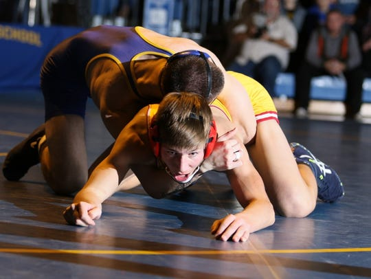 Manville wrestles Voorhees on Dec. 20