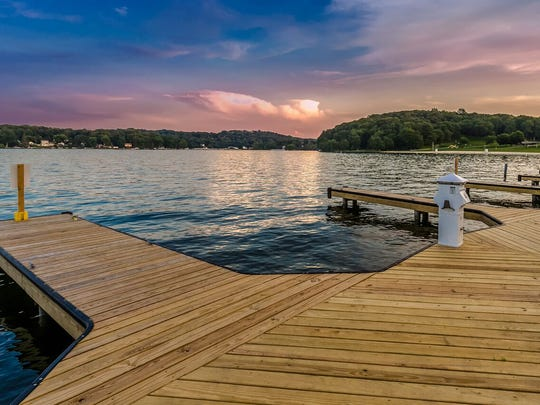 Private deeded boat slips are included in the purchase