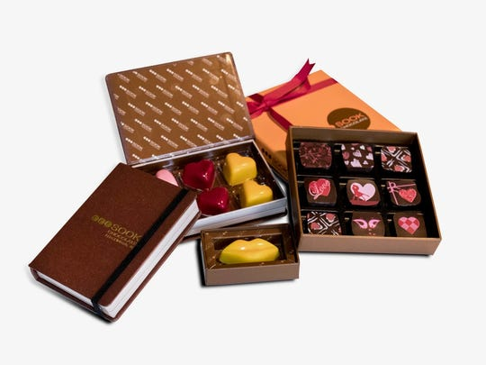 Chocolate boxes from Sook for Valentine's Day