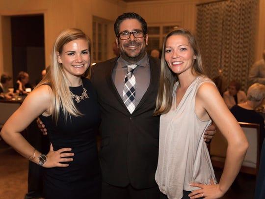 Indian River Lagoon Graduate Research Fellow Grace Roskar, left, Dr. Matt Ajemian, and Graduate Research Fellow Breanna DeGroot.
