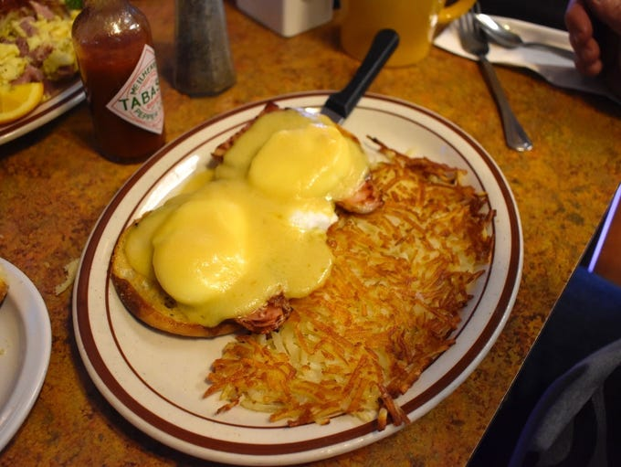 One of the eggs Benedict breakfasts at Country Kitchen