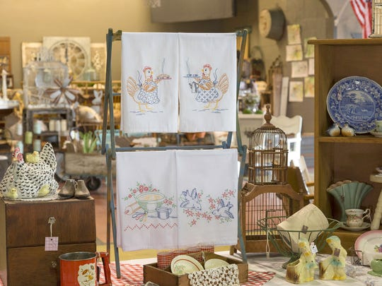 A booth at a past Nolensville Historical Society Antiques, Collectibles and Garden Show is filled with vintage and collectible items. The third annual show will be  March 22-24, 2018.
