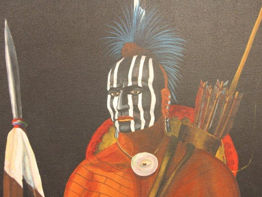 An Osage Indian, painted on canvas by Joe Don Brave