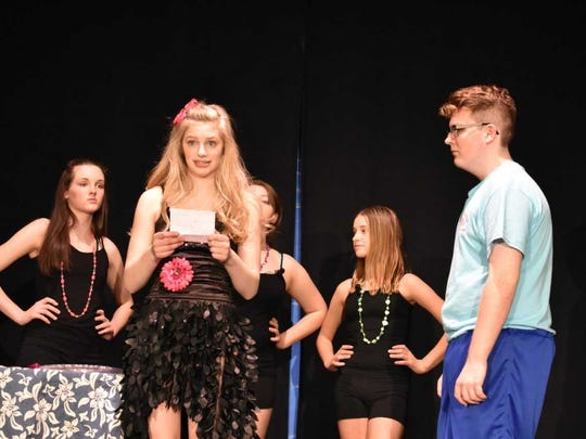Sharpay (Haley Robinson, front left, backed by Sharpettes