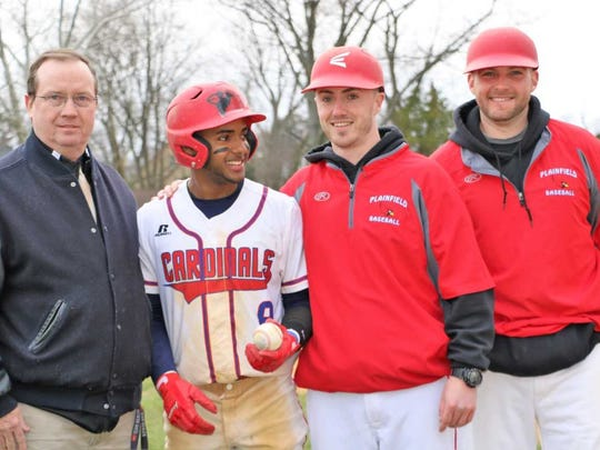 Plainfield's Waldy Arias poses with the school's athletic