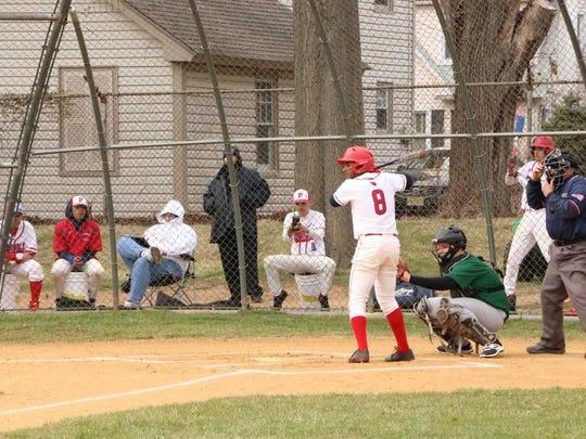 Plainfield's Waldy Arias at-bat.