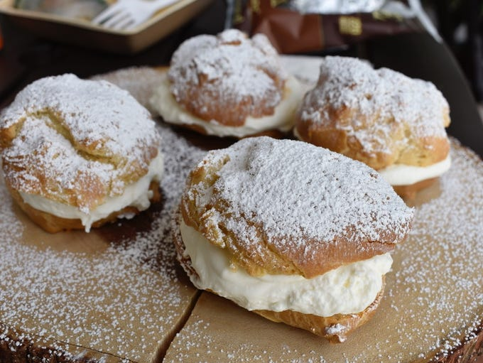 Gluten-free cream puffs at Zoie Claire's Bakery and