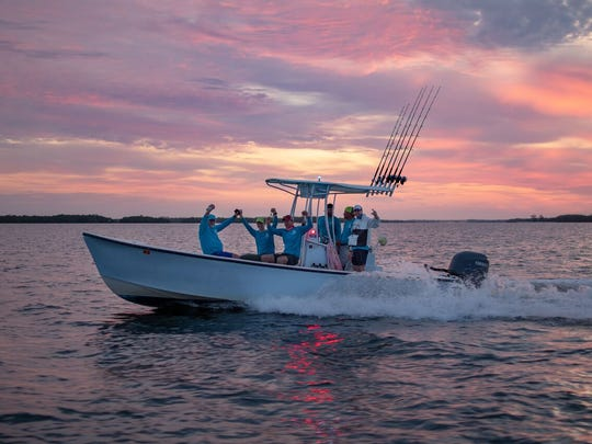 "Team Fish N Chips 2 heads to fish during the seventh annual ""Ding"" Darling & Doc Ford's Tarpon Tournament on May 11."