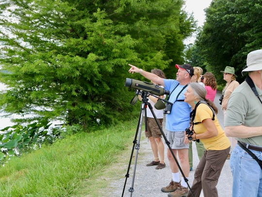 Guided hikes and seminars are presented during the