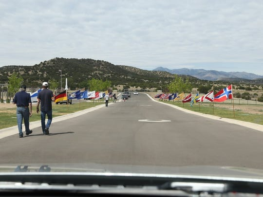 The drive to the new portion of Fort Stanton cemetery
