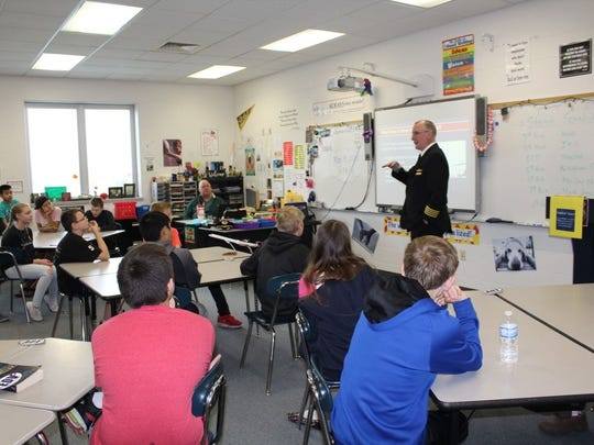 Endeavor Air representatives spoke to D.C. Everest Middle School students about  careers in aviation mechanics and repair systems, media relations and commercial flight.