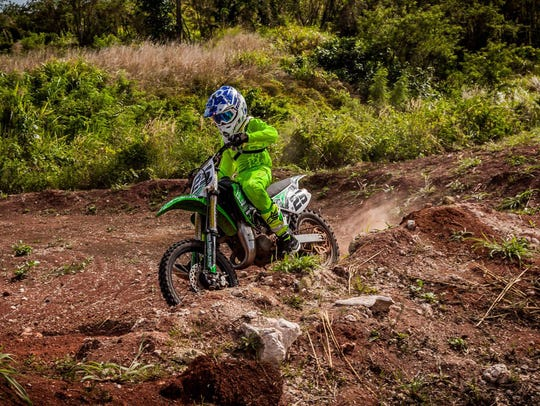 Lawrence Limtiaco, 12, has big plans for the spring 85cc MotoX series, which starts in July.