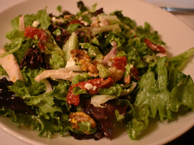 The popular glazed walnut chicken salad at Cheesecakes
