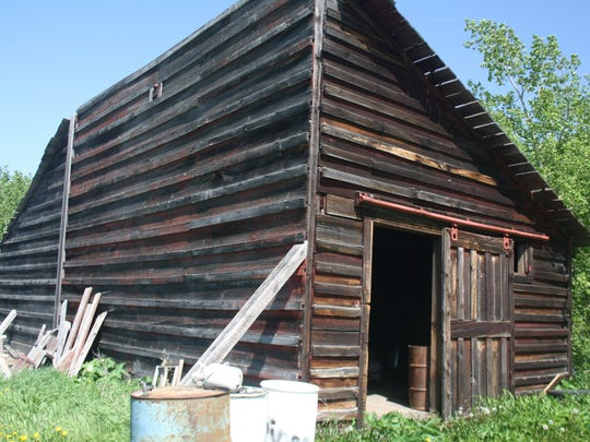 The half barn is one of the many buildings and future projects for the Park Cabin Company at Duck Lake near Glacier National Park.