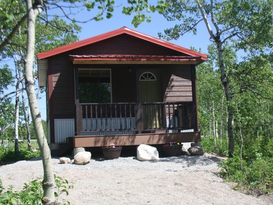 Stone and Lueders built new cabins to allow guests