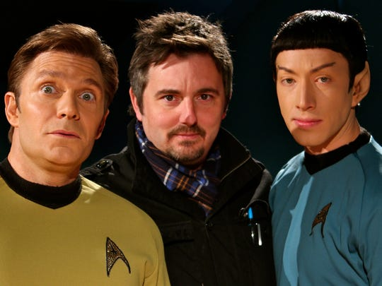 "Vic Mignogna (far left) plays Captain Kirk in his self-produced web series ""Star Trek Continues."""