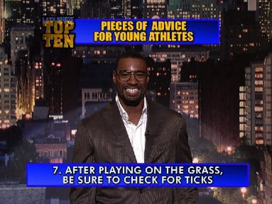Calvin Johnson gave valuable advice to young athletes.