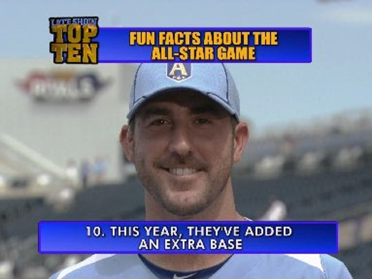 Justin Verlander helped deliver the All-Star Top 10 list.