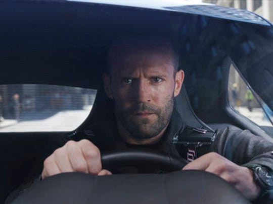 "This image released by Universal Pictures shows Jason Statham in ""The Fate of the Furious."""