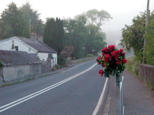 """This image released by the Tribeca Film Festival shows a scene from the Alex Gibney film, """"No Stone Unturned."""" Producers of Alex Gibney's """"No Stone Unturned"""" have pulled the documentary about the 1994 murder of six men in Northern Ireland from the Tribeca Film Festival over legal issues. The film was to premiere April 23 at the festival."""