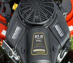 Briggs & Stratton has a new Simplicity garden tractor engine with electronic fuel injection.
