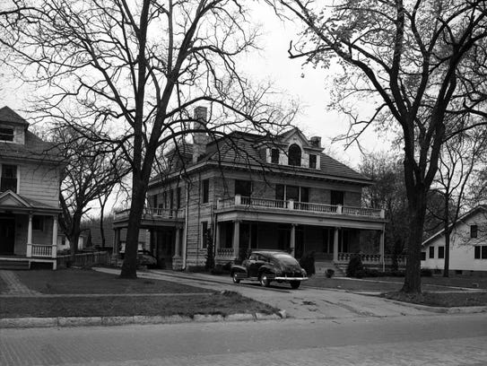 Exterior of the Silsby house ca. 1951