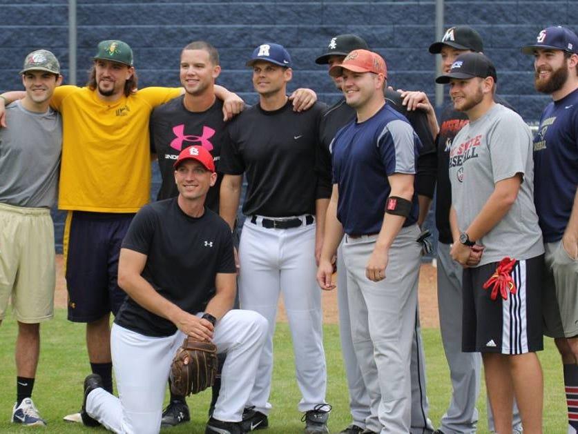 Former Roberson baseball players gathered Saturday in Skyland.