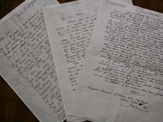 Hall's family letters from World War II.