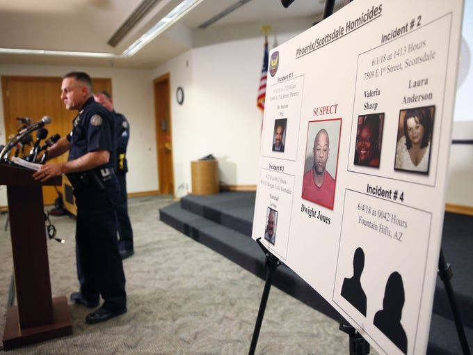 Scottsdale Police Commander Rich Slavin speaks during