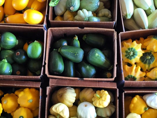 A variety of freshly-picked squash ready for delivery by Harvest Drop to New Jersey restaurants.