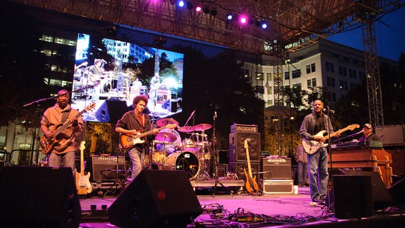 Ivan Neville and Dumpstaphunk perform at the Clifford Brown Jazz Festival in Wilmington's Rodney Square in 2009.