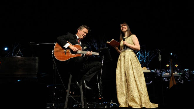 "Keith and Kristyn Getty perform during ""An Irish Christmas."""