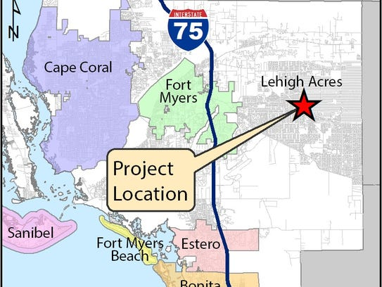 FDOT map showing location of proposed Abel Canal shared