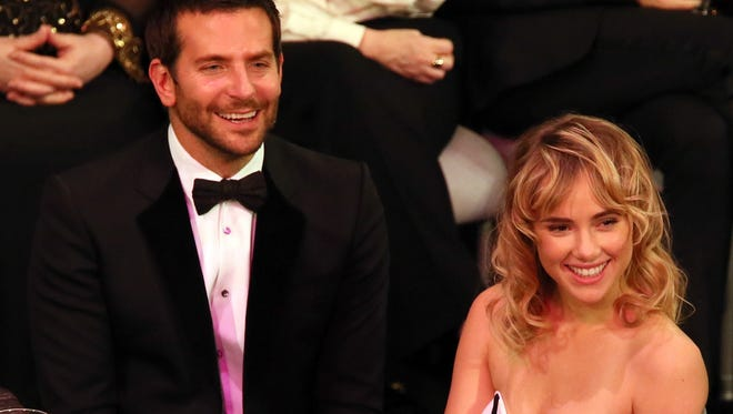 Bradley Cooper and Suki Waterhouse attended the SAG Awards on Jan. 18.