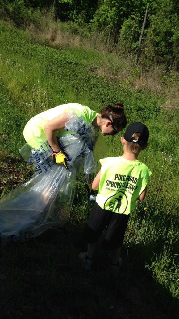 Pike Road residents collect trash during a cleanup