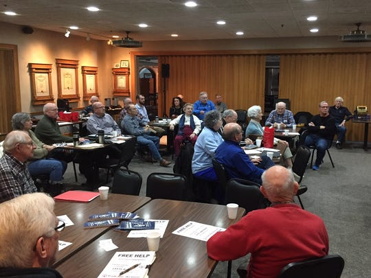 Members of the Golden K Kiwanis Club in Carmel learned about IndyStar Call for Action from IndyStar consumer advocate Tim Evans during a meeting Thursday.