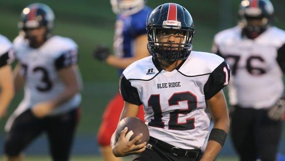 Blue Ridge's Tyree Cofield (12) looks for room to run