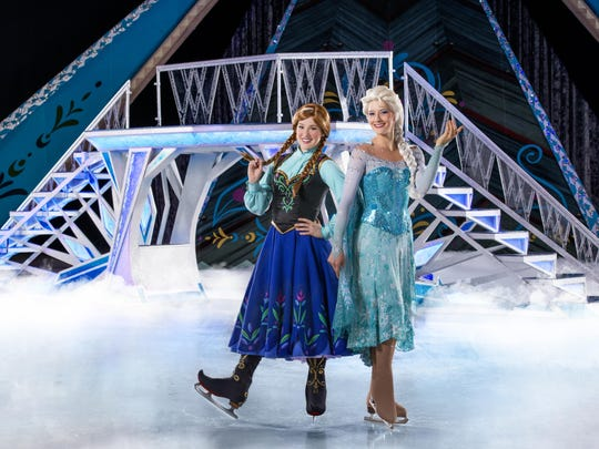 Disney on Ice presents Frozen is coming to Cincinnati May 11-15. The story centers on the relationship of two royal sisters, Anna and Elsa. Photo by Tim Pannell.