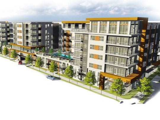 Forestar had begun building Music Square Flats on 17th Avenue South before stopping work and listing the site for sale.
