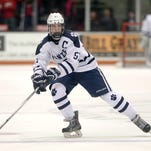 Junior forwardConnor Haims has scored six goals in three playoff games, including the game-winner in the past two.