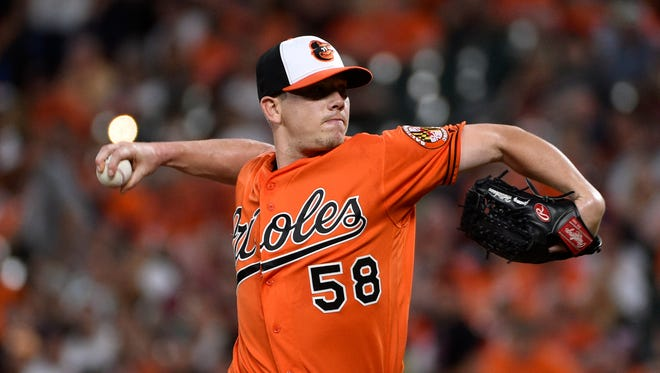 Jeremy Hellickson struggled in 10 starts with the Orioles, posting a 6.97 ERA.