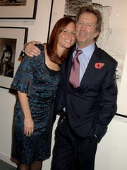 Eric Clapton and his wife, Melia McEnery,  celebrate