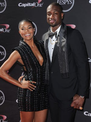Dwyane Wade and Gabrielle Union at the ESPY Awards in July.